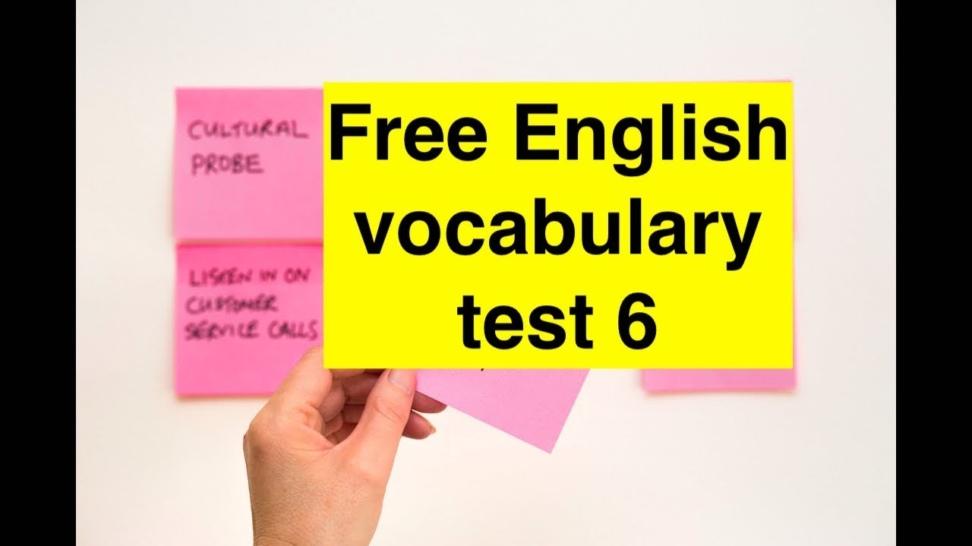 10 слов для экзамена IELTS тест 6