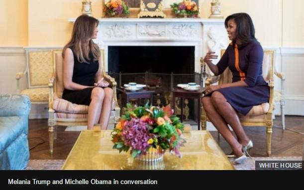 Нынешняя и будущая Первая Леди встретились в Белом Доме