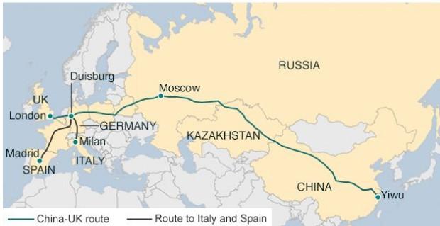 маршрут нового шелкового пути