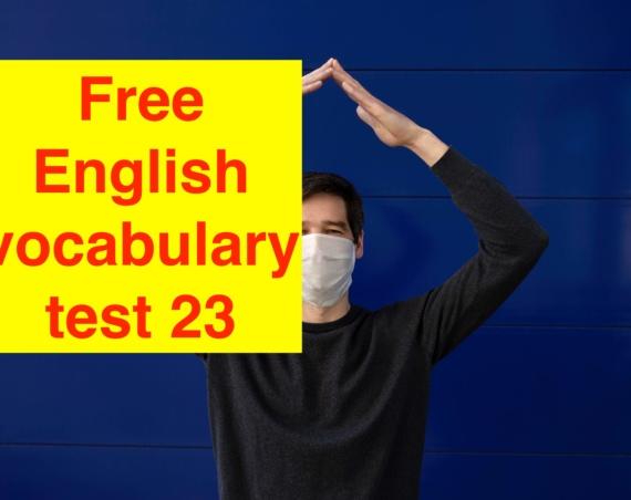 10 слов для экзамена IELTS тест 23